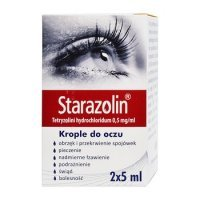STARAZOLIN 0,5 mg/ml KROPLE DO OCZU 2x5ml